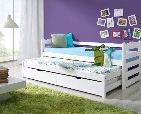 Łóżko białe 2 osobowe