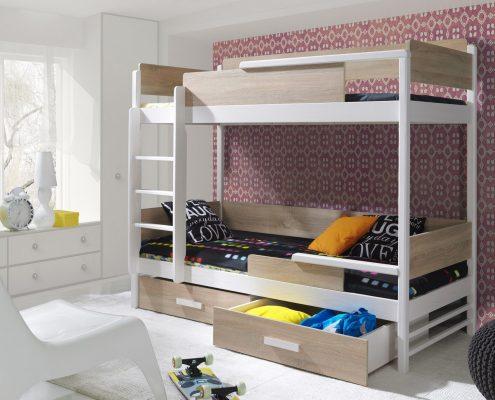 Łóżko pietrowe 2 osobowe