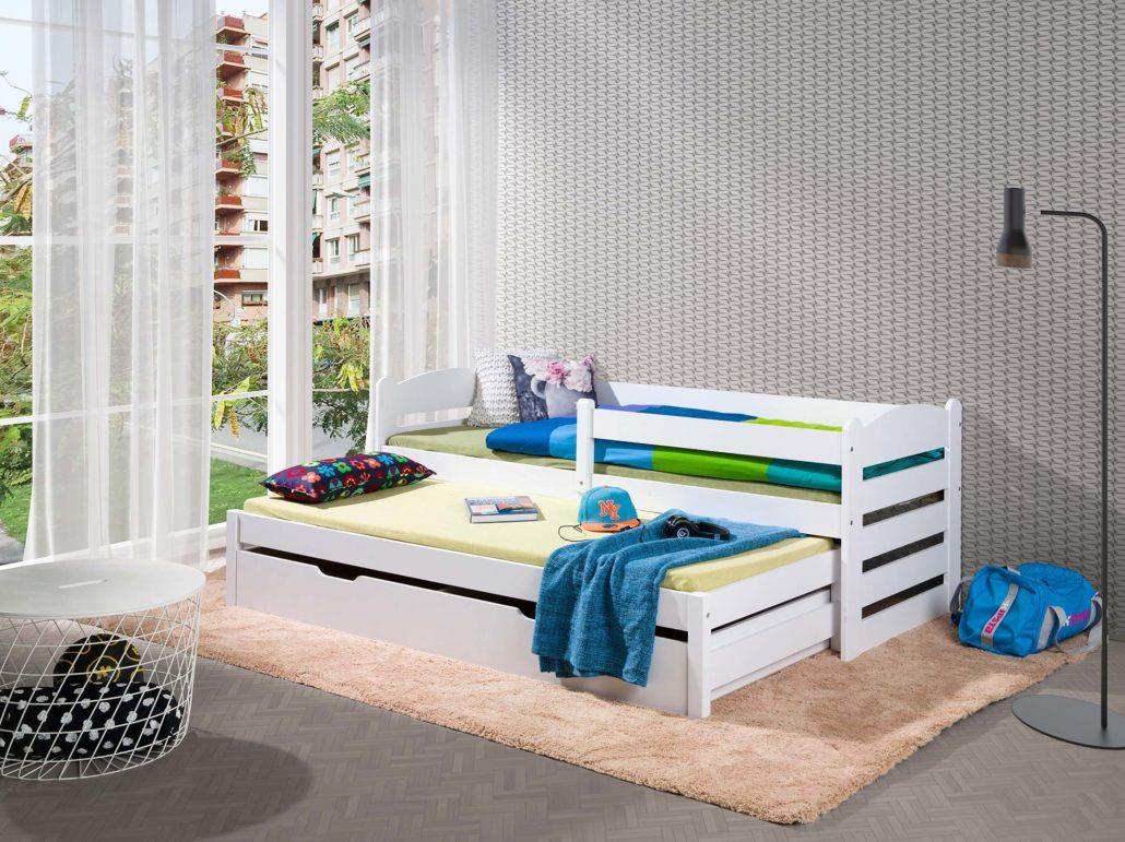 Łóżko białe dla dziecka